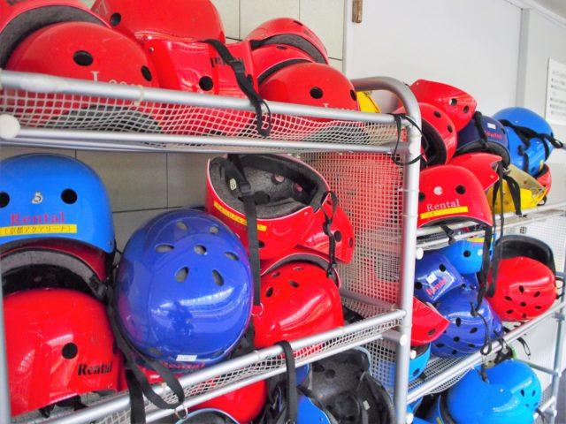 ヘルメットは無料で借りれる